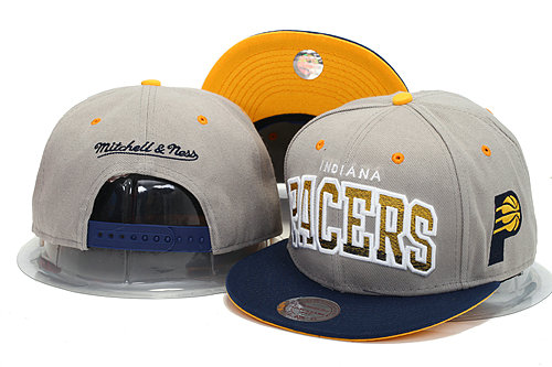 Indiana Pacers Grey Snapback Hat YS 0606